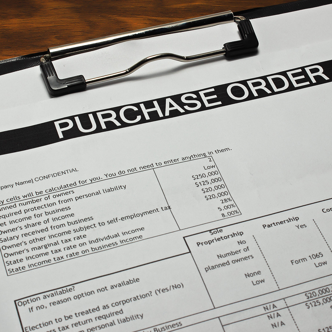 generic purchase order form