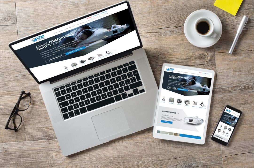 CPAP responsive website design