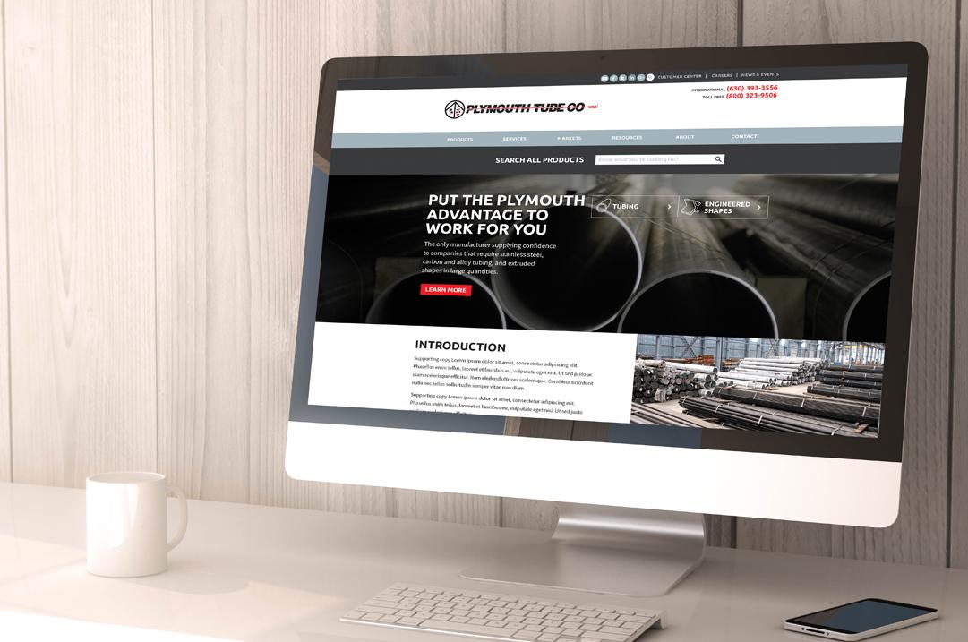 Plymouth Tube Co web design