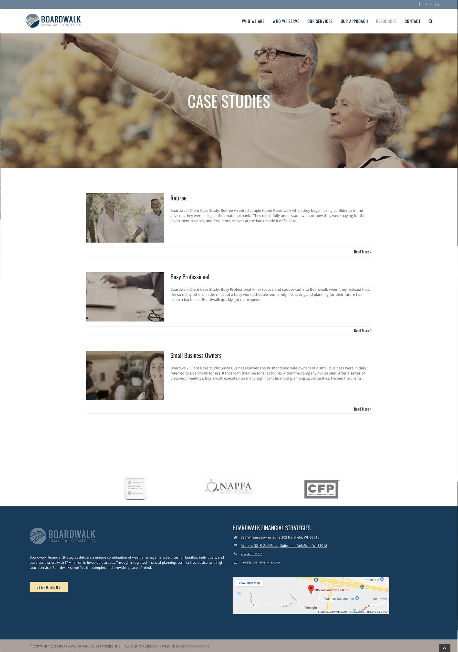 Boardwalk case studies webpage