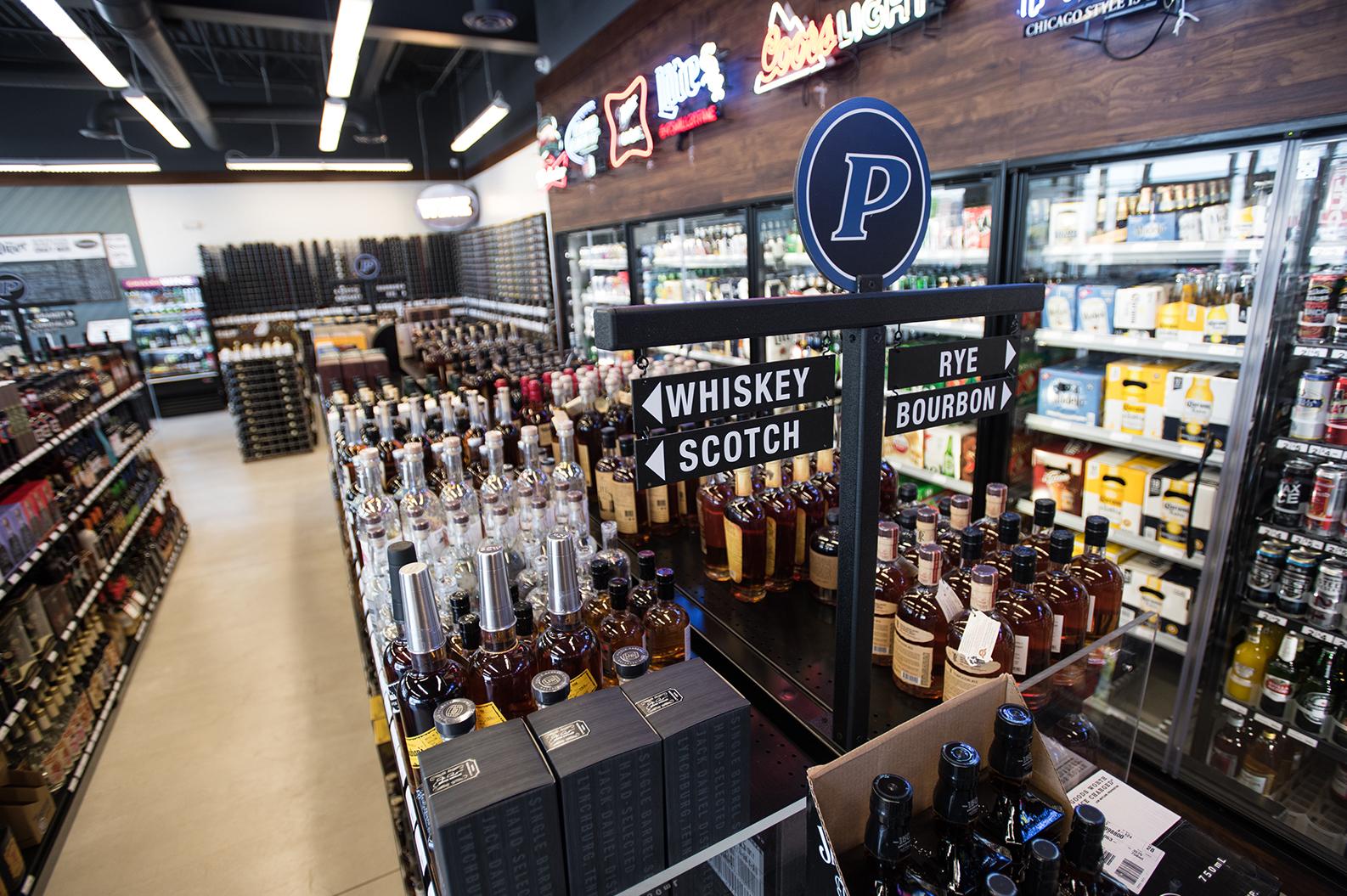 Pride Cafe liquor aisles