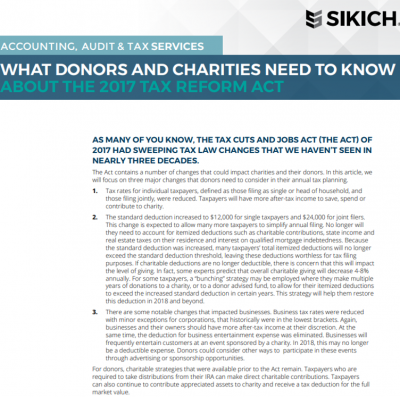 tax reform donors charities