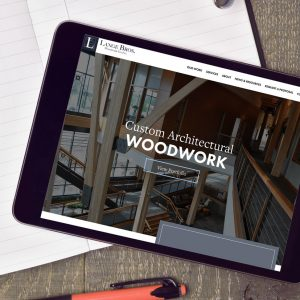 lange bros website on tablet