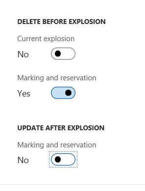 dynamics 365 explosion options