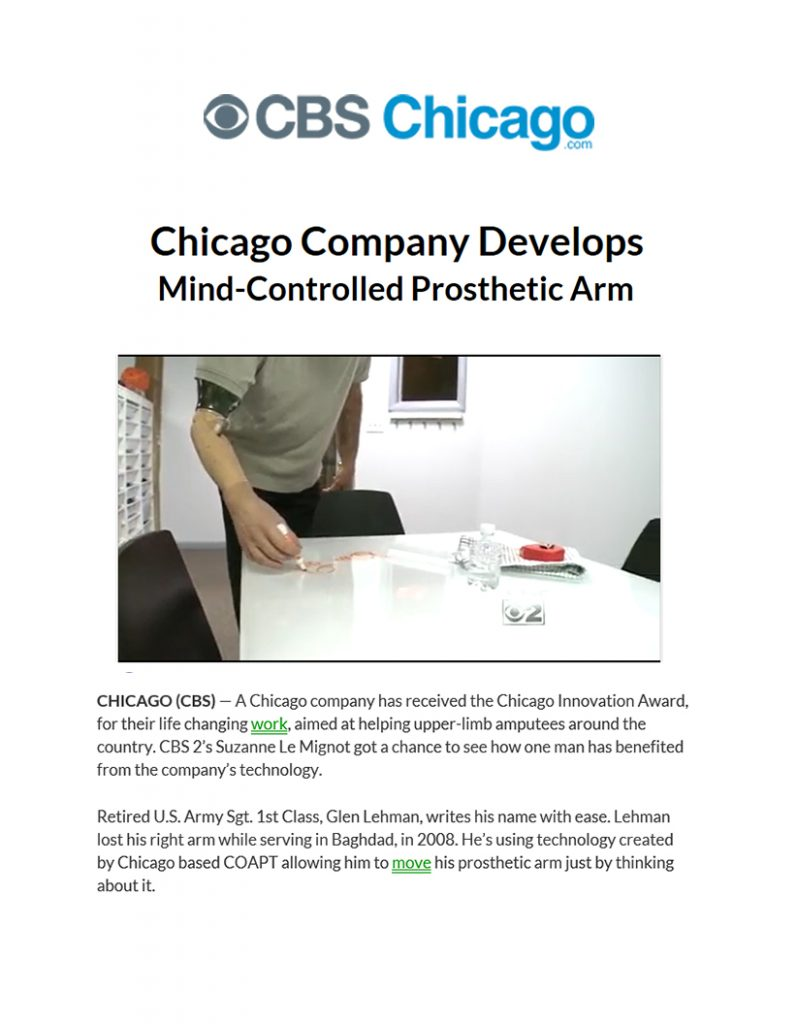 Coapt Chicago CBS