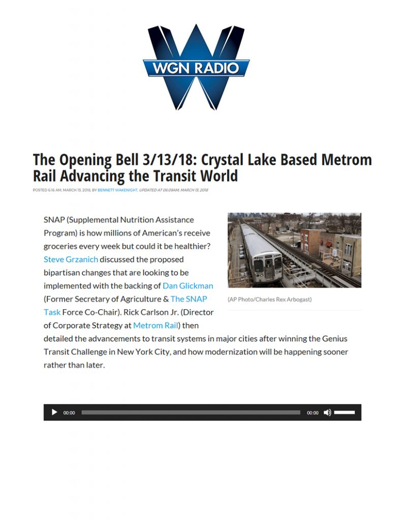 Metrom Rail WGN Interview