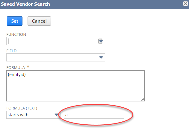 NetSuite saved search formulas