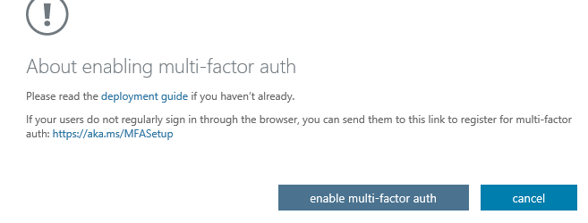 office 365 multifactor authentication