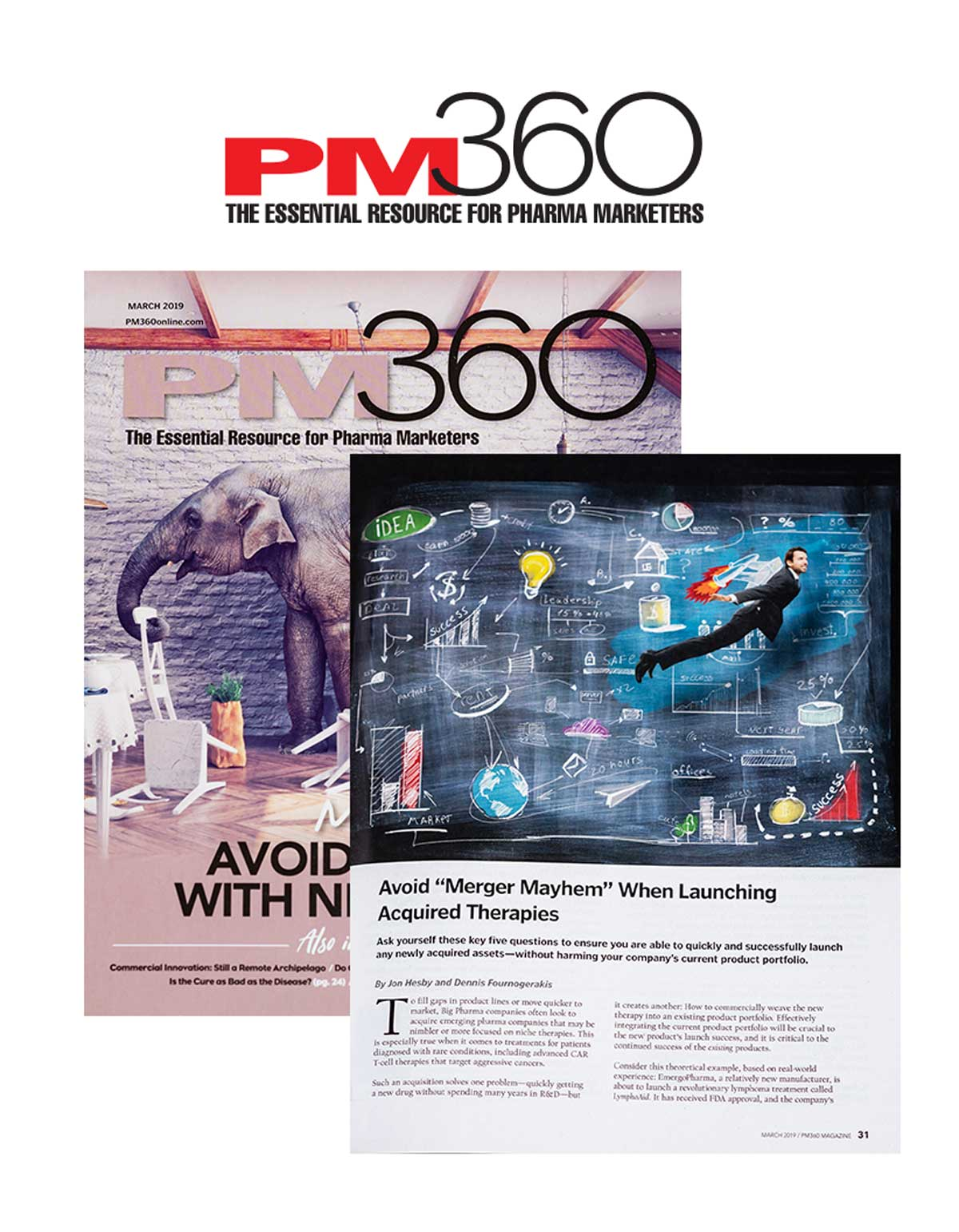 PM360 Magazine Cover Image with Featured Article from Beghou Consulting
