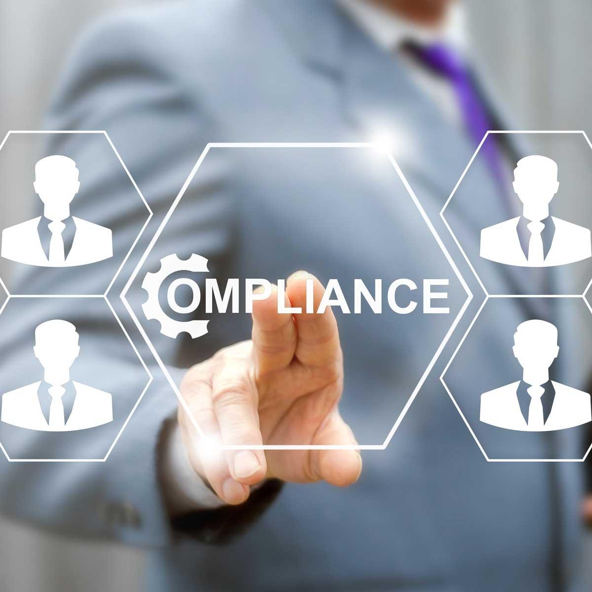 Business compliance teamwork service web concept