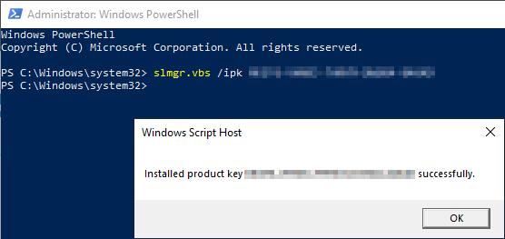 activate windows server 2019