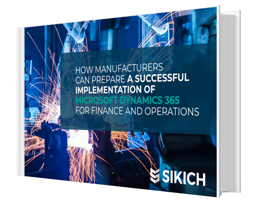 eBook cover for How Manufacturers Can Prepare a Successful Implementation of Microsoft Dynamics 365 for Finance and Operations