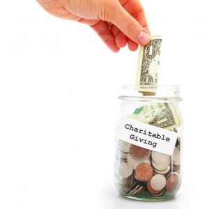 Charitable Giving jar