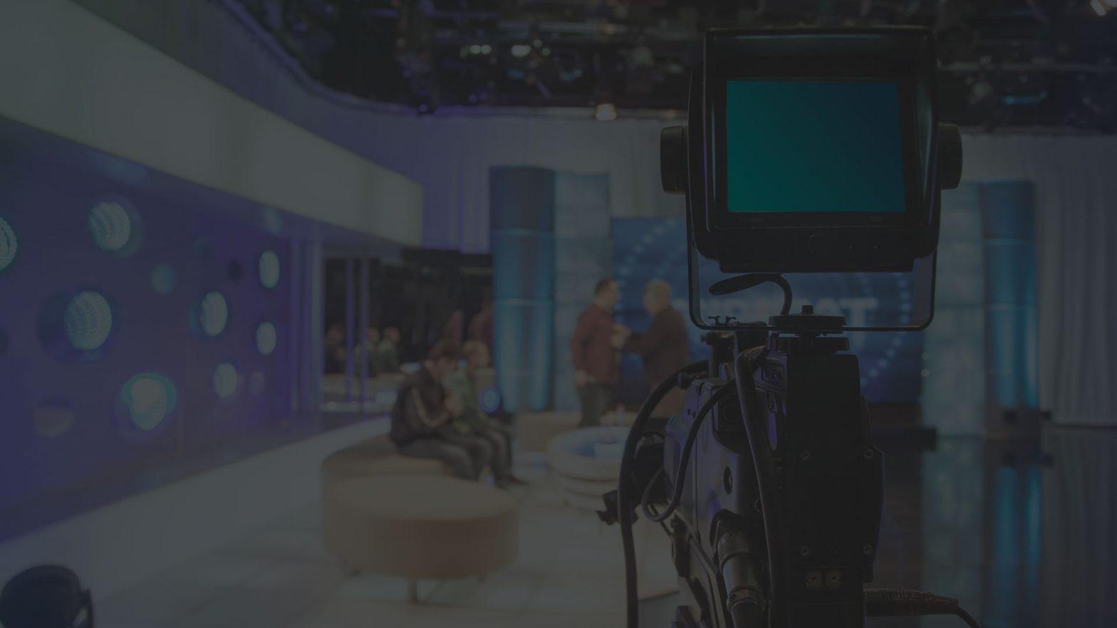 setup of a studio for a livestream across the internet