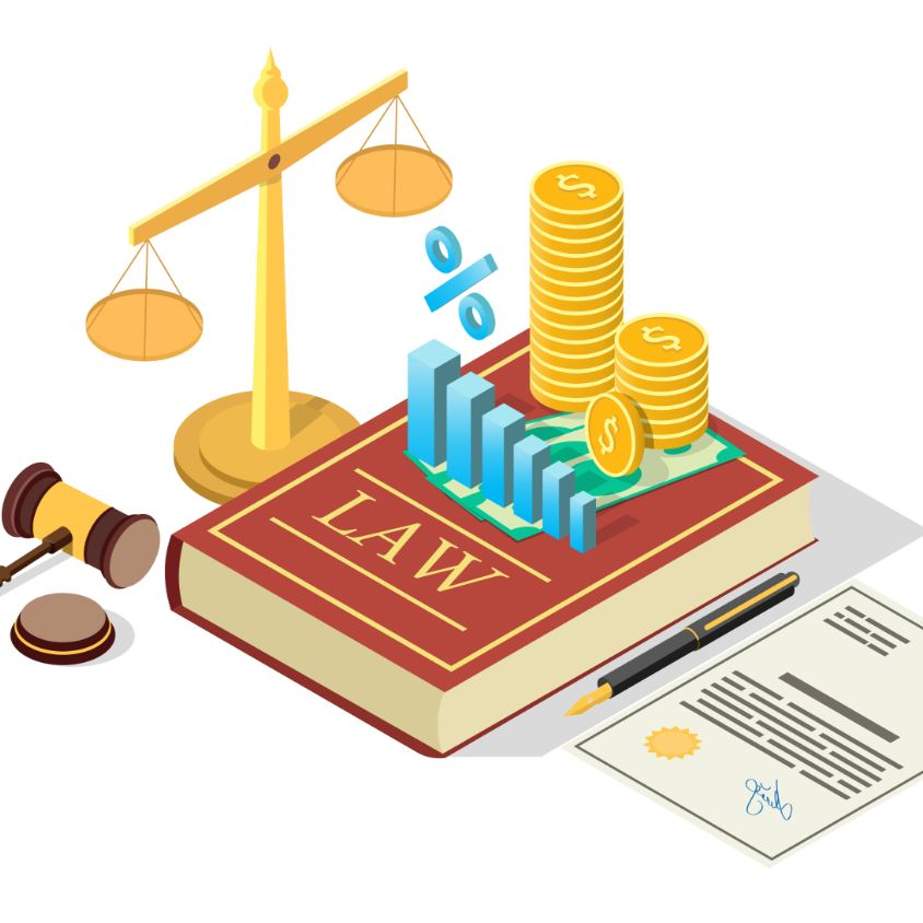 Taxes law vector concept flat isometric illustration