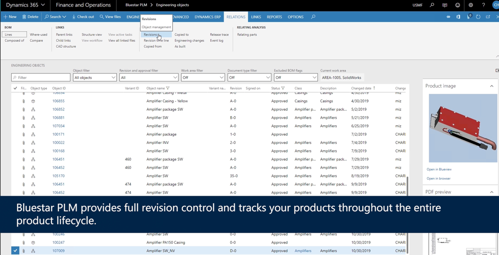 full revision control with Bluestar PLM