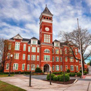 historic building on college campus
