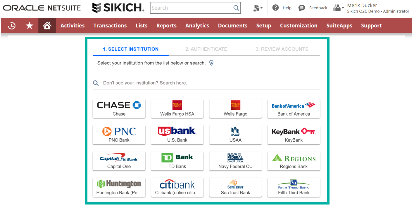 picking a financial institution