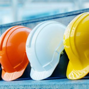 Multicolored Safety Construction Worker Hats. Teamwork of the construction team must have quality. Whether it is engineering, construction workers. Have a helmet to wear at work. For safety at work. See Less