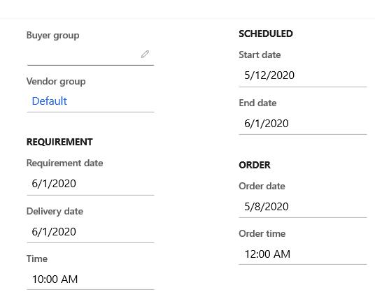order date change