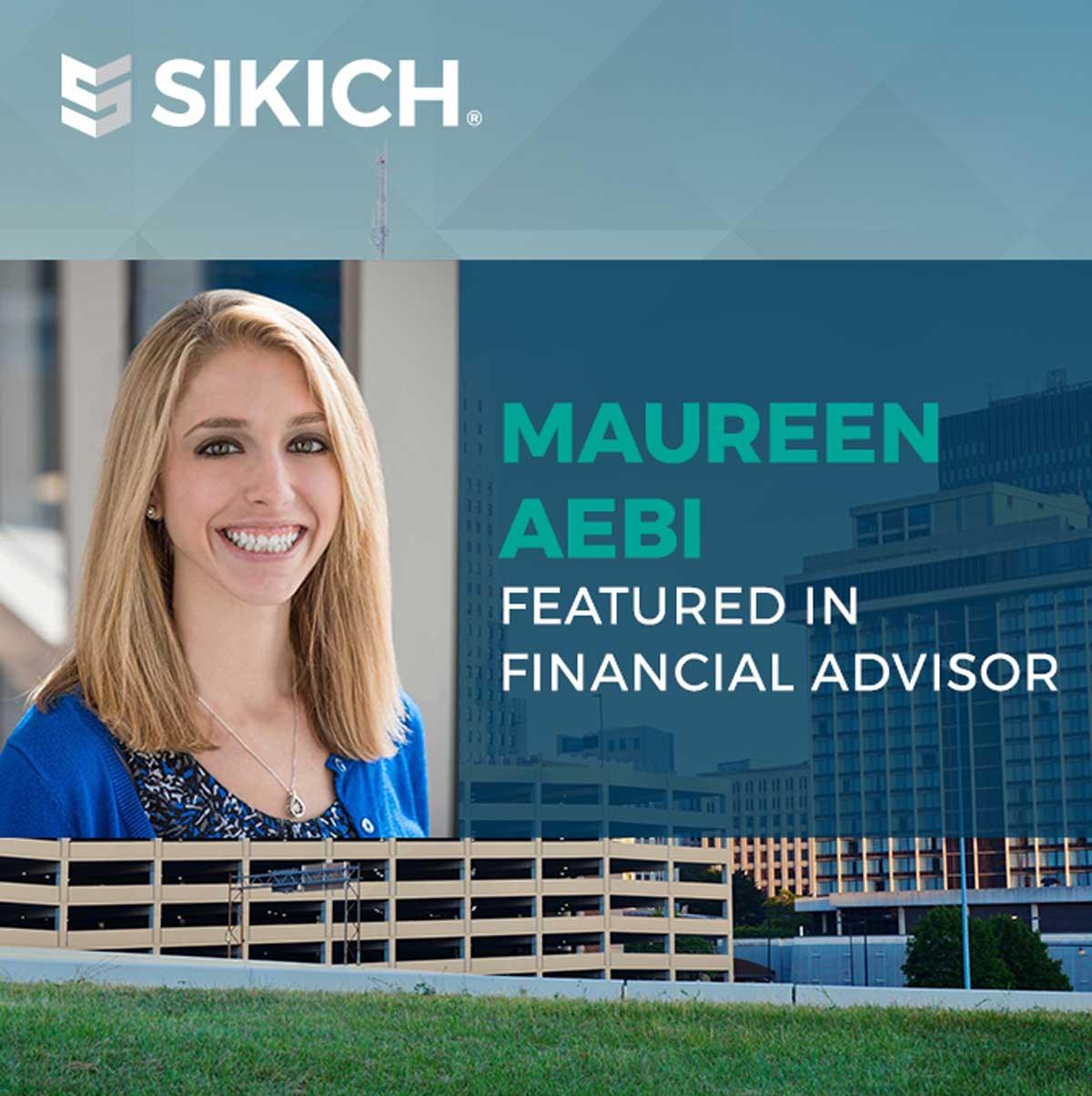 Maureen Aebi featured in Financial Advisor