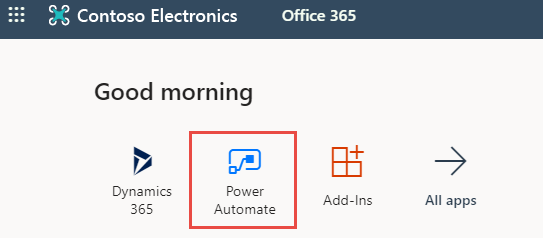 Power Automate app