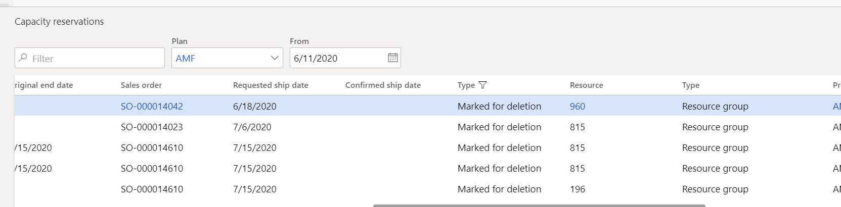 deleting marked for deletion records