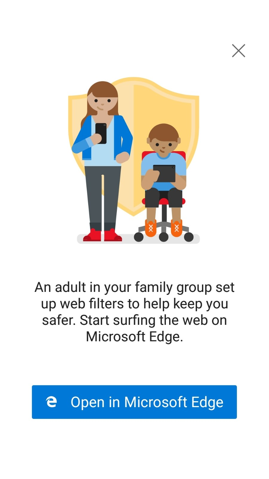 web filters set by Microsoft Family Group