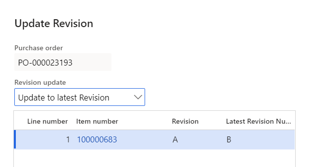 D365FO engineering revision window