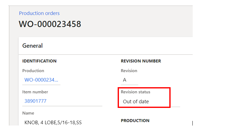 out of date revision