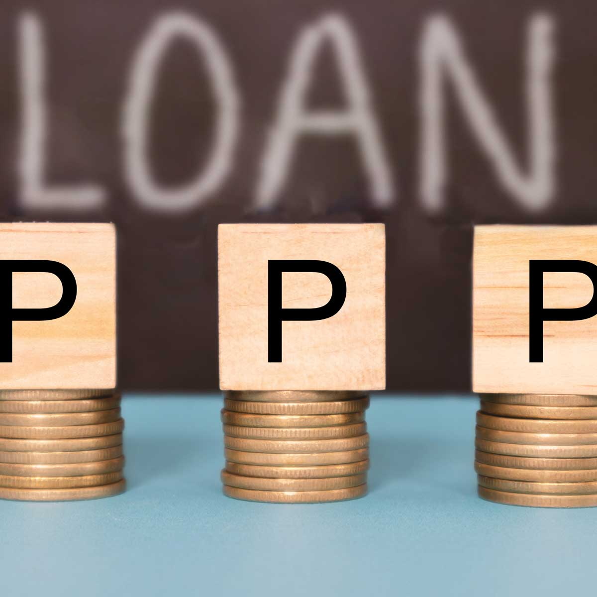 PPP or Paycheck Protection Program business loan as coronavirus or covid-19 aid concept
