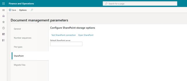 configure SharePoint storage options