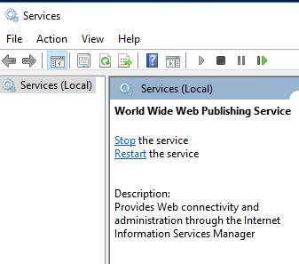 World Wide Web Publishing Service