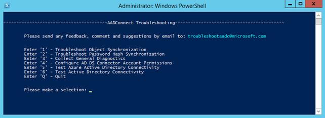 troubleshoot password hash synchronization