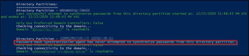 password synchronization issue