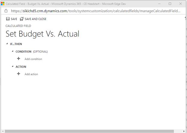 Set Budget vs Actual