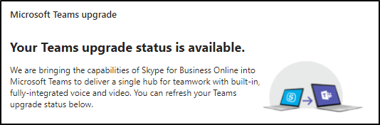 Time to upgrade Skype for Business Online