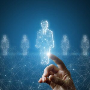 Hand-selects-a-hologram-of-an-employee