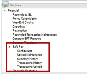 Safe Pay in Dynamics GP Financial