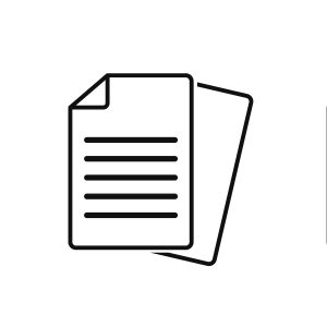 Document vector icon isolated vector graphic. Paper document page icon vector element.