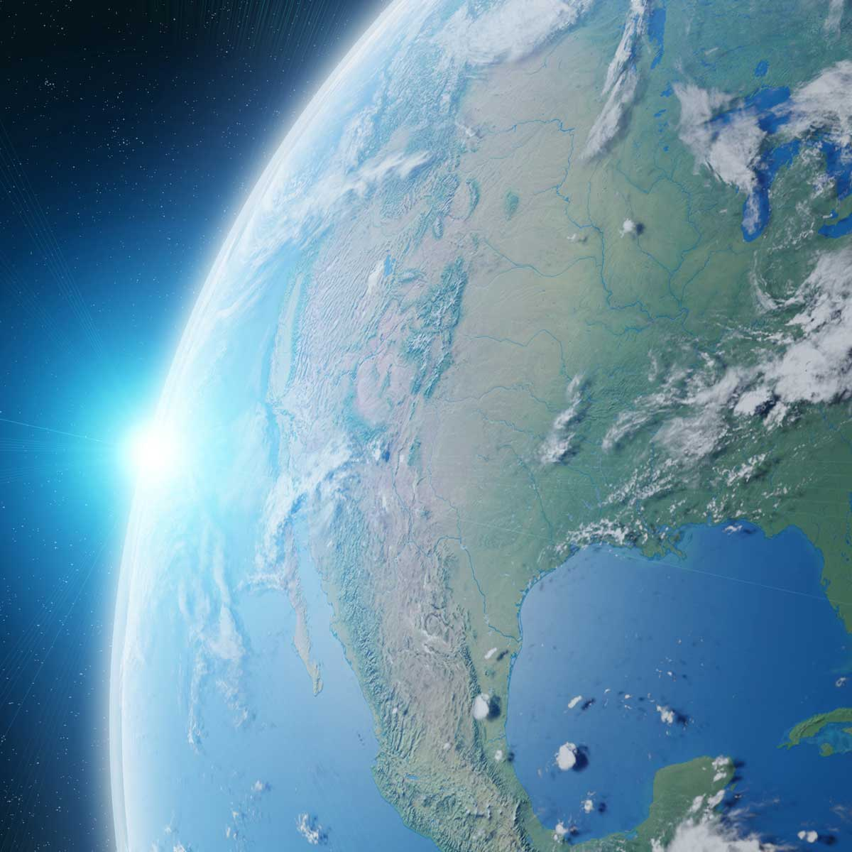 image of 3D earth from space