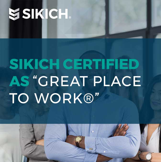 Sikich certified as Great Place to Work image and title