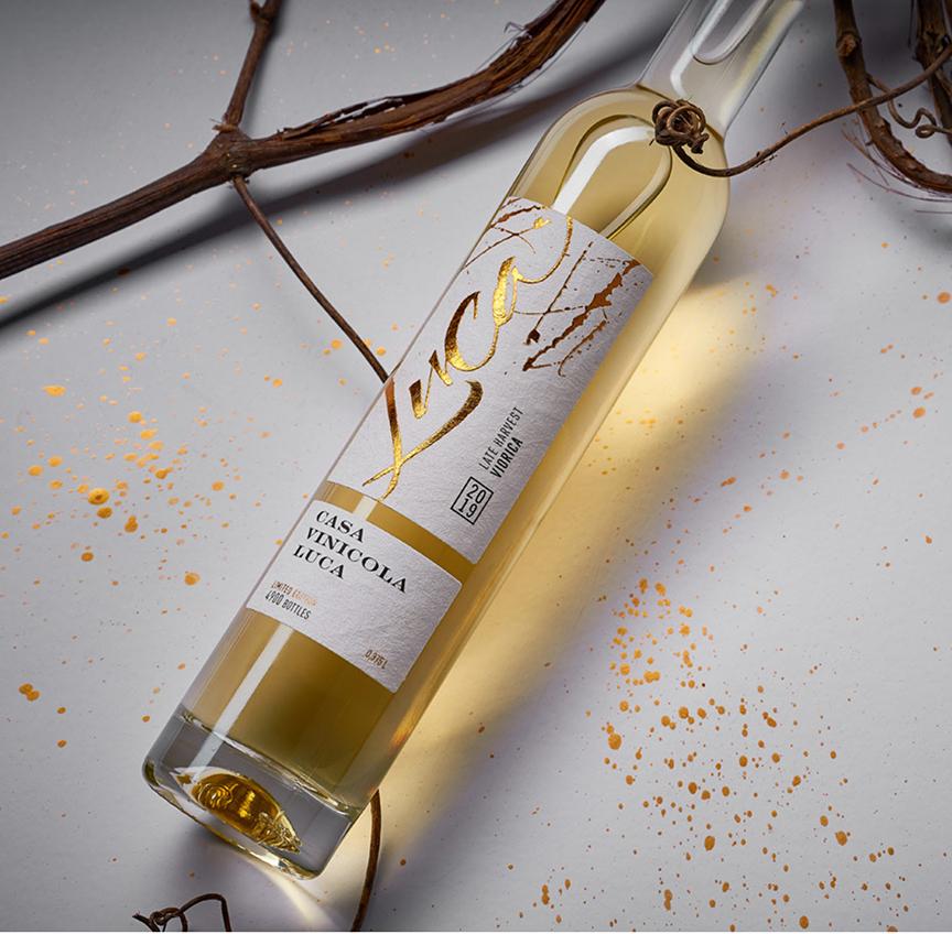 Luca Late Harvest Wine; metallic sticker