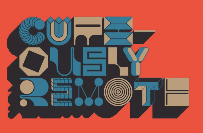 Ragtag imagery that is colorful, funky and uses artful typography