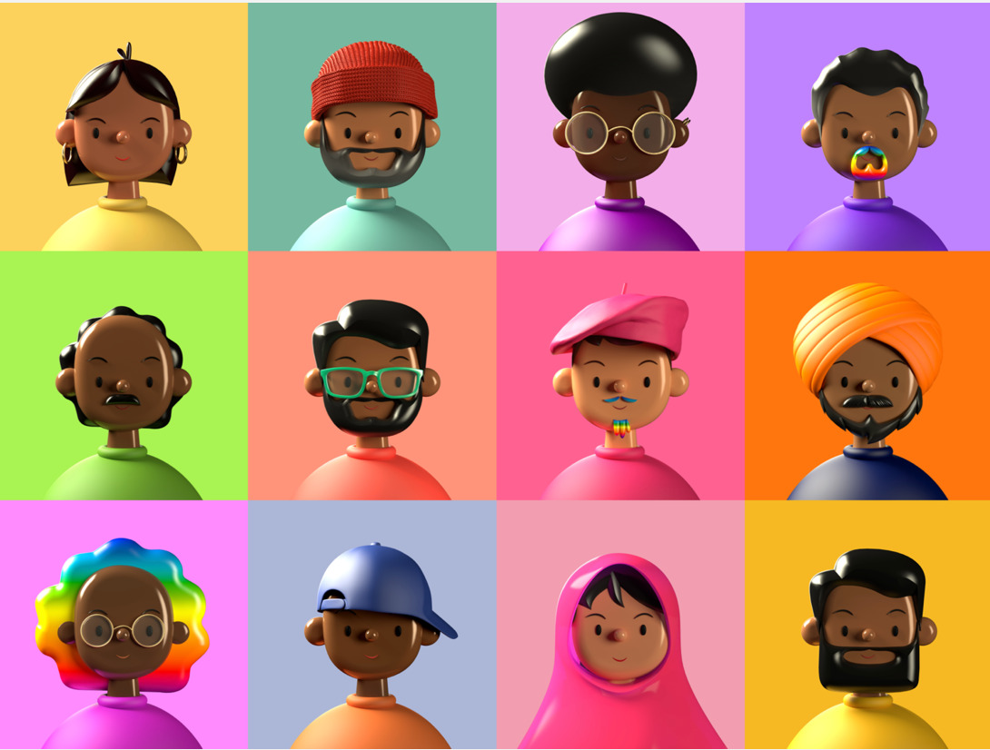 Toy Faces Library of diverse people in 3D