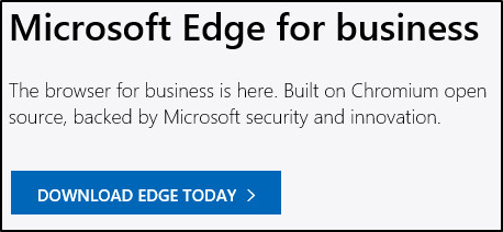 downloading Microsoft Edge for business