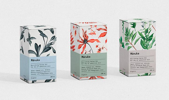 minuka brand packaging Watercolor Illustrations for packaging by Daria Vinokurova