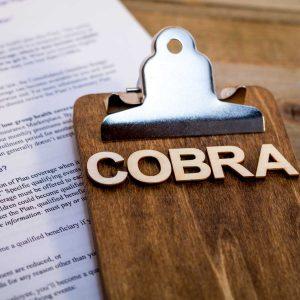 COBRA Healthcare Insurance Benefits for unemployment concept