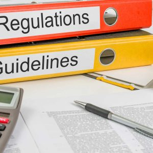 Folders with the label Regulations and Guidelines