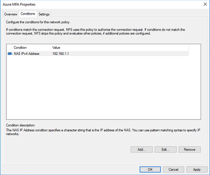 add a NAS IPv4 address and point it to the IP of your SonicWall